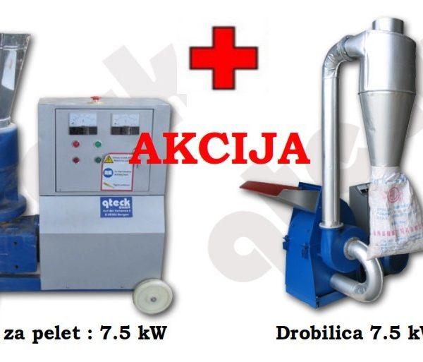 PELETIRKA 7.5 kW + Drobilica 7.5kW